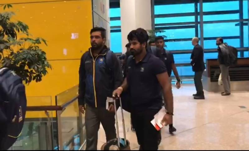 Sri Lankan team arrives in Islamabad