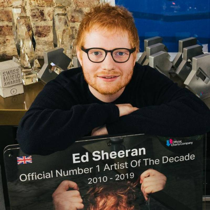 Ed Sheeran declared as the UK's artist of the decade
