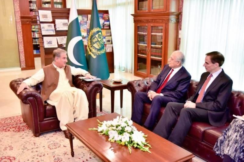 US peace envoy Khalilzad updates Pakistan's FM Qureshi about talks with Taliban