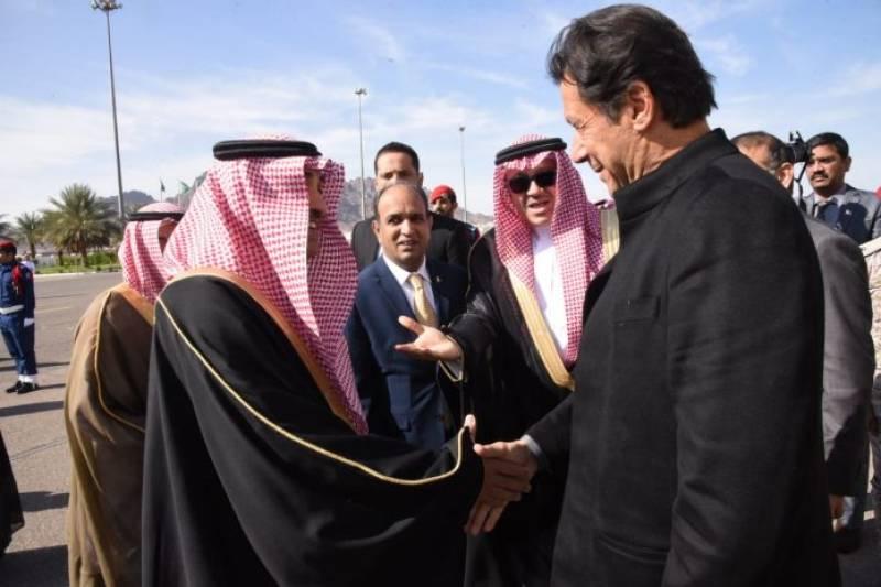 PM Imran Khan meets Saudi crown prince on day-long visit