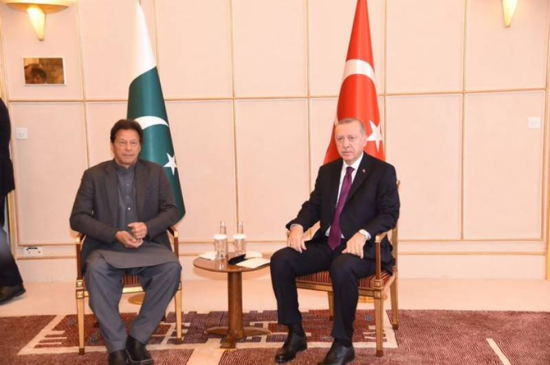 Imran, Erdogan discuss bilateral relations in Geneva