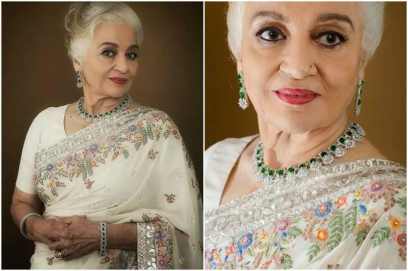 Asha Parekh looks like a vision in white Saree