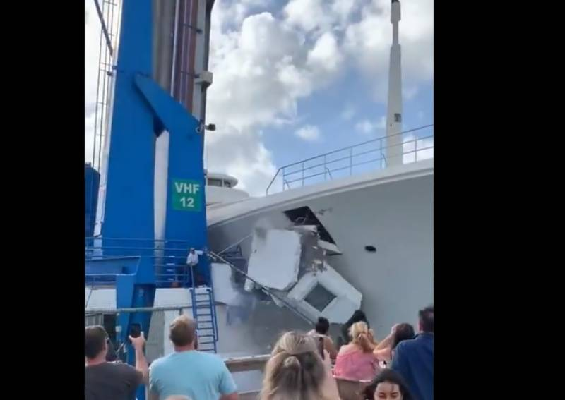 Watch Pakistani billionaire's luxury yacht smashes into bridge in the Caribbean