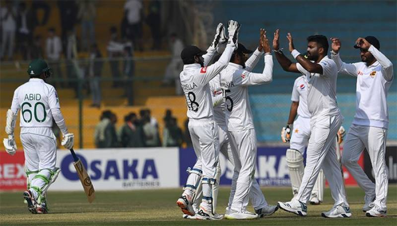 Pakistan fold for 191, Sri Lanka 64/3 on opening day in Karachi Test
