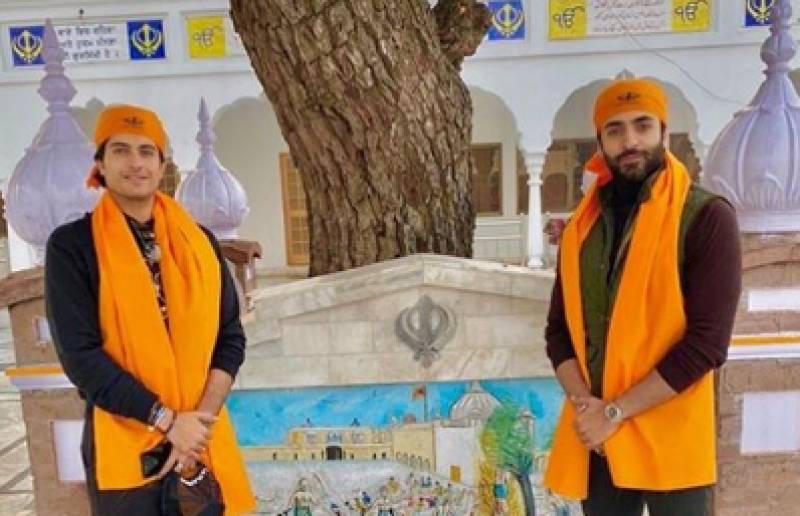 Sheheryar Munawar visits Nankana Sahib with his friend