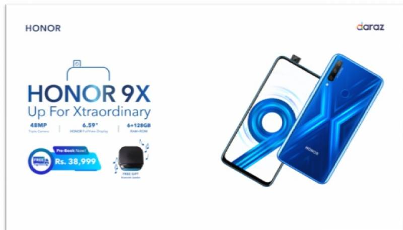 The Xtraordinary HONOR 9X is now available for pre-booking in just Rs. 38,999 only!!