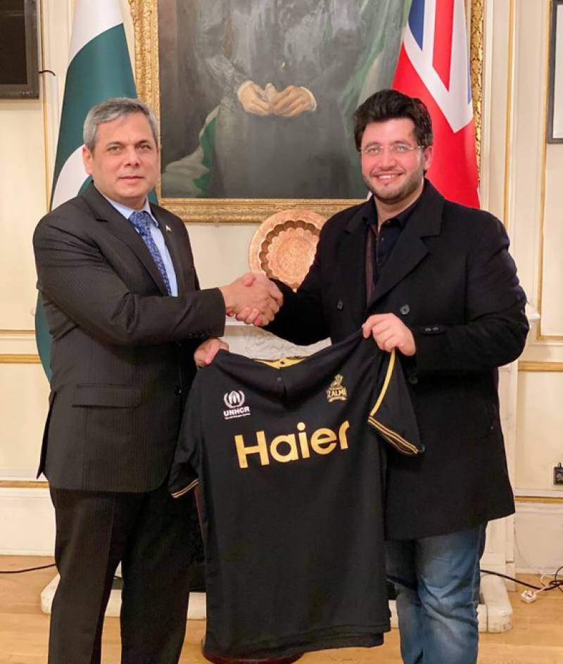 Pakistan's envoy to UK Zakaria congratulates Peshawar Zalmi chief Afridi over becoming youth ambassador for refugees