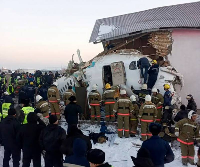 At least 11 dead after plane with 100 on board crashes in Kazakhstan