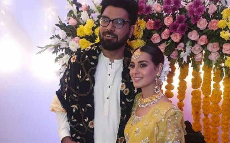 Yasir Hussain, Iqra Aziz's Mehndi photos are BREATHTAKING!