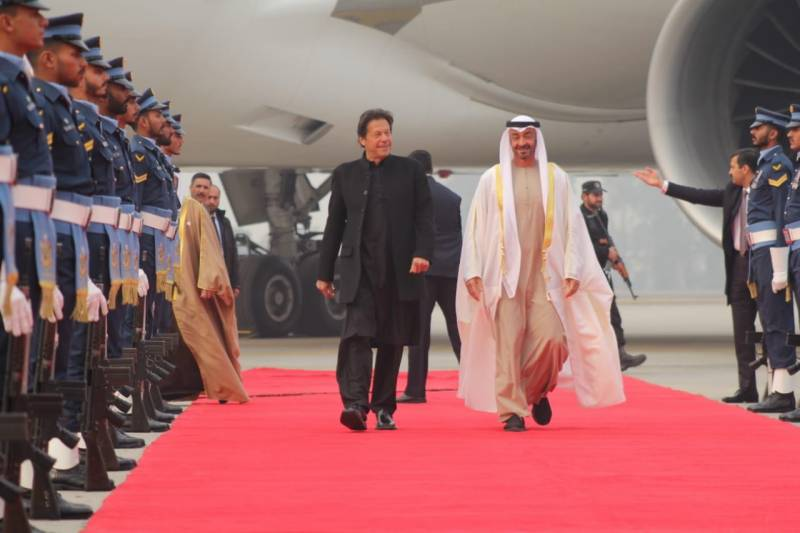 Abu Dhabi Crown Prince arrives in Pakistan on official visit