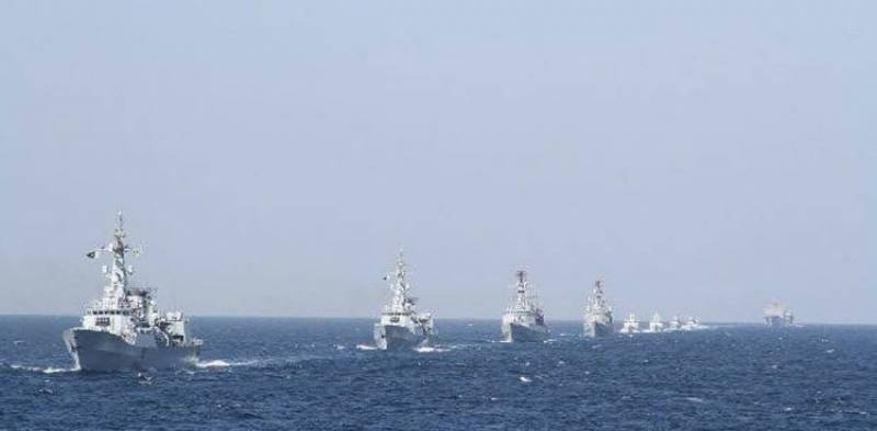 Pakistan Navy flotilla visits Muscat, Oman as part of overseas deployment