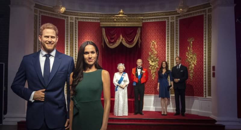 London's Madame Tussauds removes Harry and Meghan waxworks from royal family display