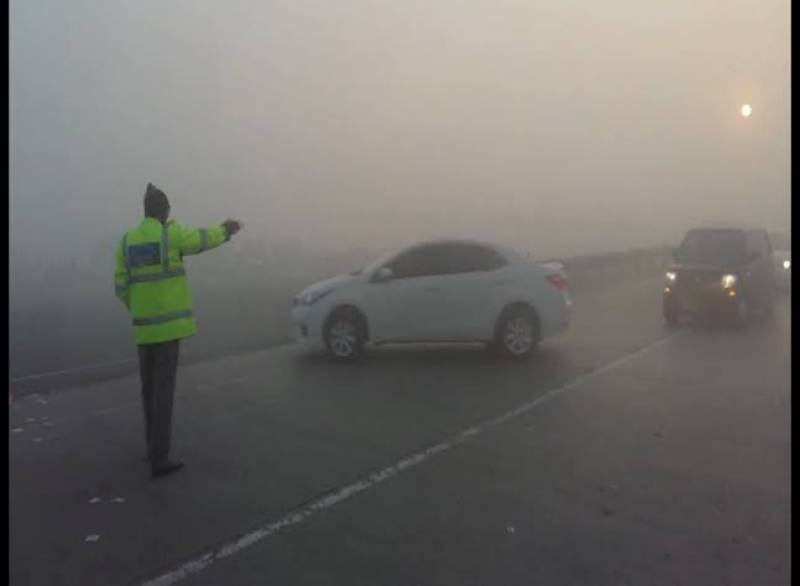 Several Motorway sections closed after dense fog covers plain areas in Punjab