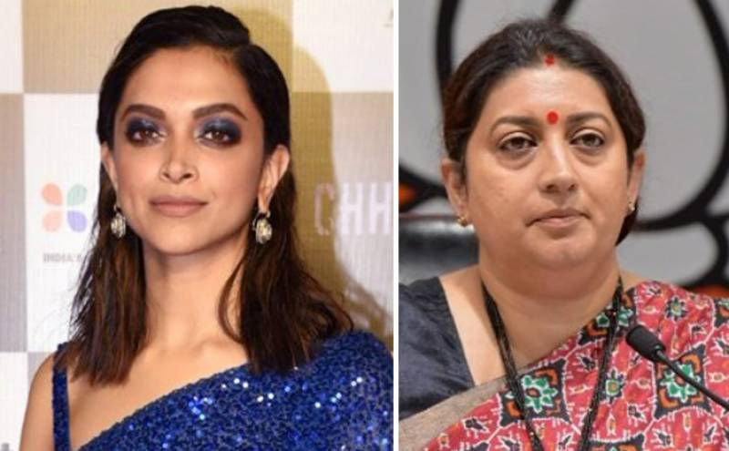 """Smriti Irani takes a dig at Deepika Padukone, says, """"It was not unexpected to us"""""""