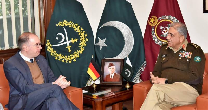 German state minister meets COAS Bajwa, hails Pakistan's role in regional stability
