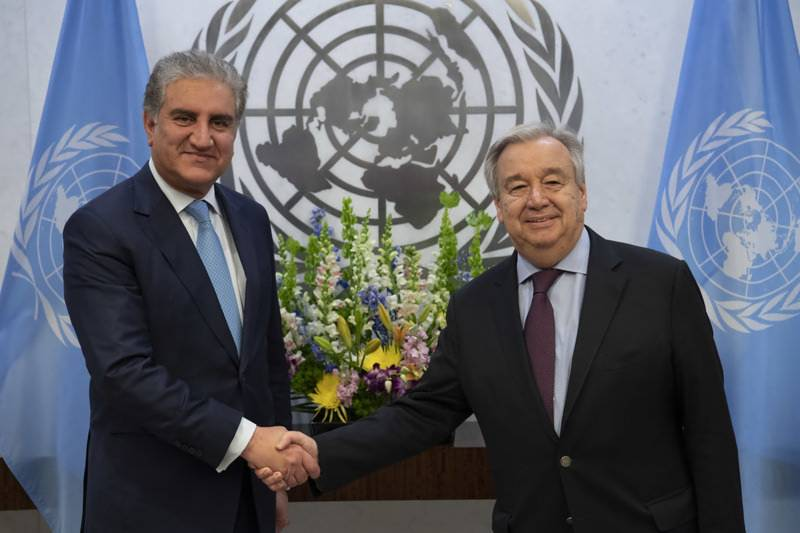FM Qureshi meets UN leaders to highlight grave situation in Indian Occupied Kashmir