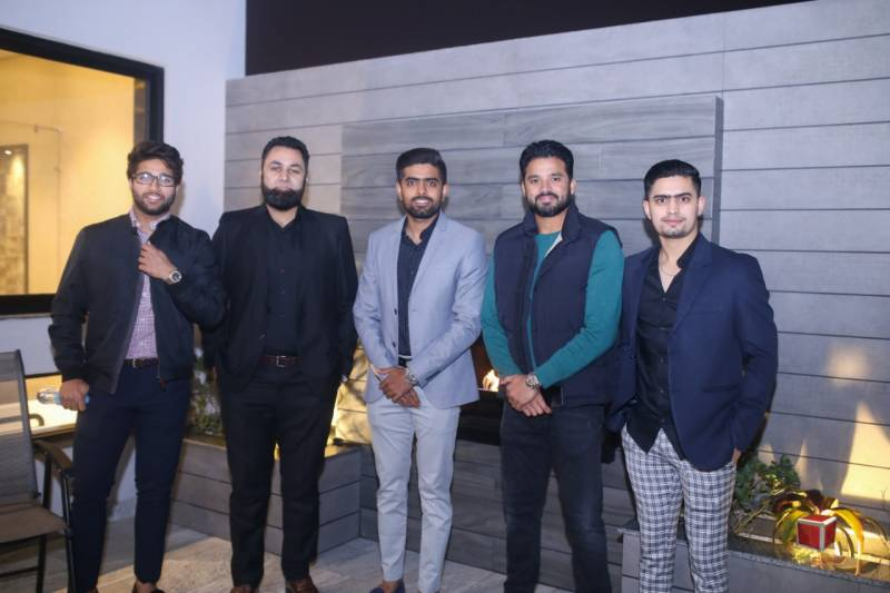 Azhar, Misbah,Babar,Imad and Shan attend The Cube Design Service's networking event