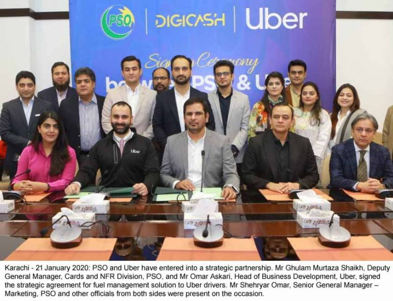 PSO and UBER sign exclusive strategic agreement