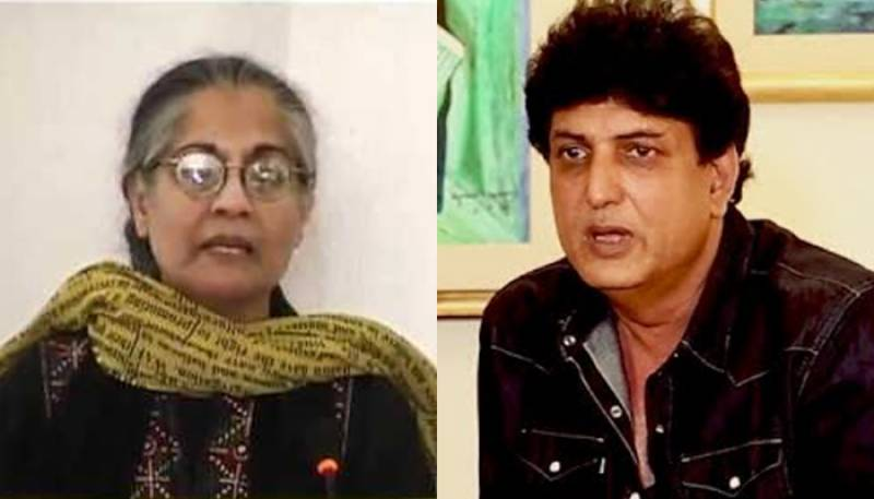 Pakistani human rights activist Tahira Abdullah educates Khalilur Rehman Qamar on Feminism