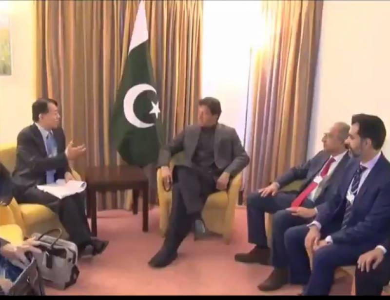ADB president calls on PM Imran in Davos