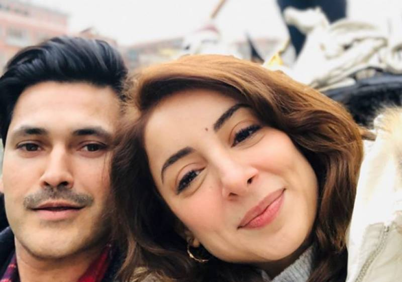 Sarwat Gilani, Fahad Mirza run into Karan Johar at the airport