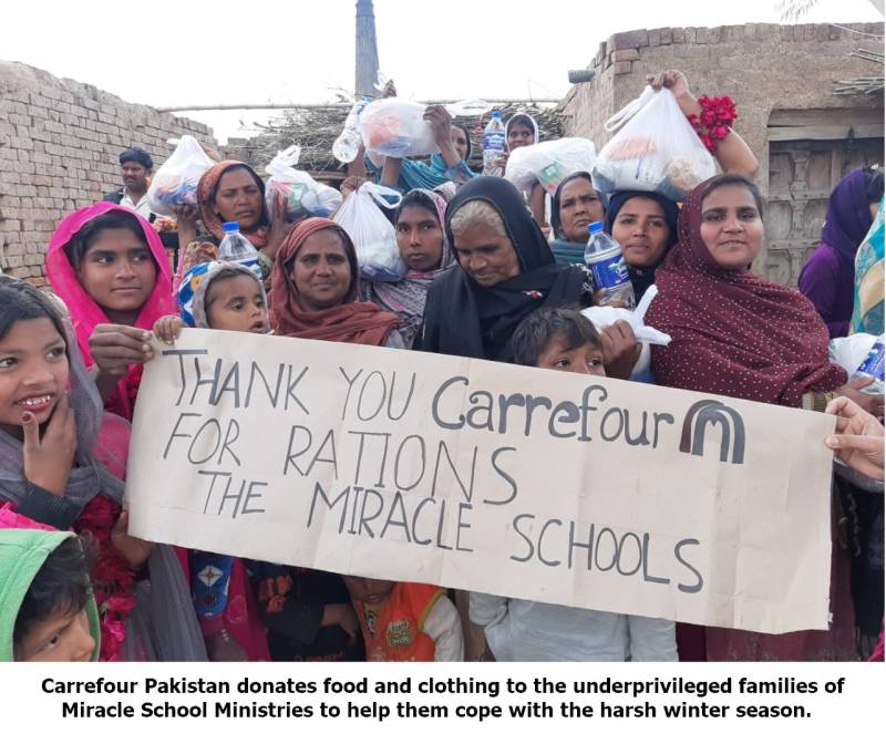 Carrefour Pakistan supports 50 deserving families in Lahore