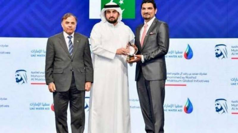 Pakistani national wins award for gobal water crisis solution in UAE