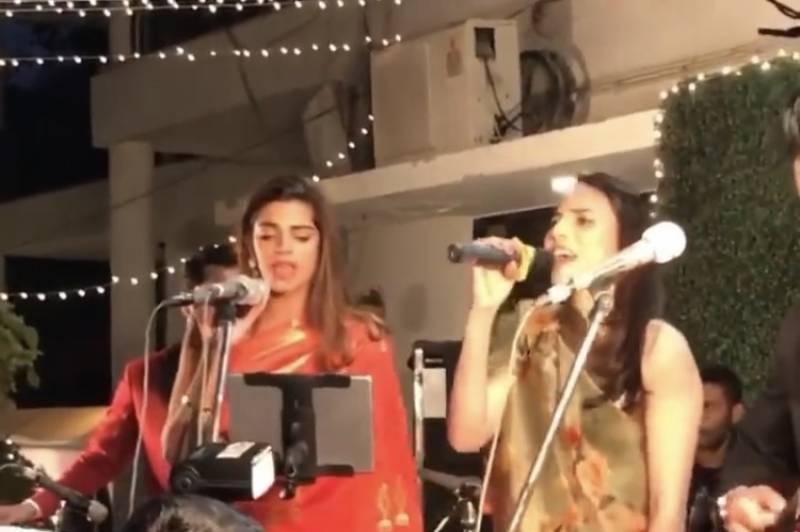 WATCH: Sanam Saeed and Zoe Viccaji jamming to Mama Mia at Rachel Viccaji's wedding