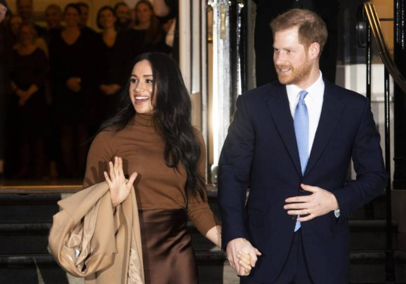 Prince Harry and Meghan Markle make first appearance since royal departure