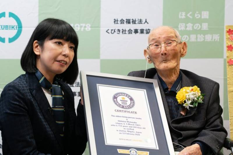 Japanese man, 112, crowned World's Oldest Man