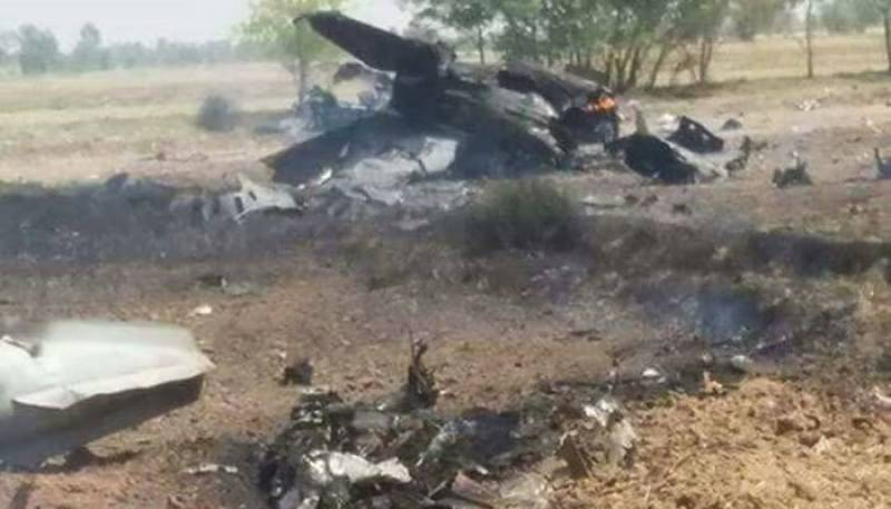 PAF trainer aircraft crashes near Mardan, pilot ejects safely