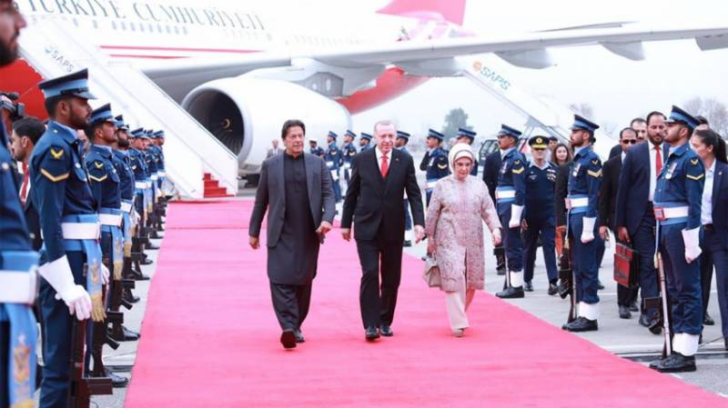 Turkey's Tayyip Erdogan in Pakistan on two-day official visit