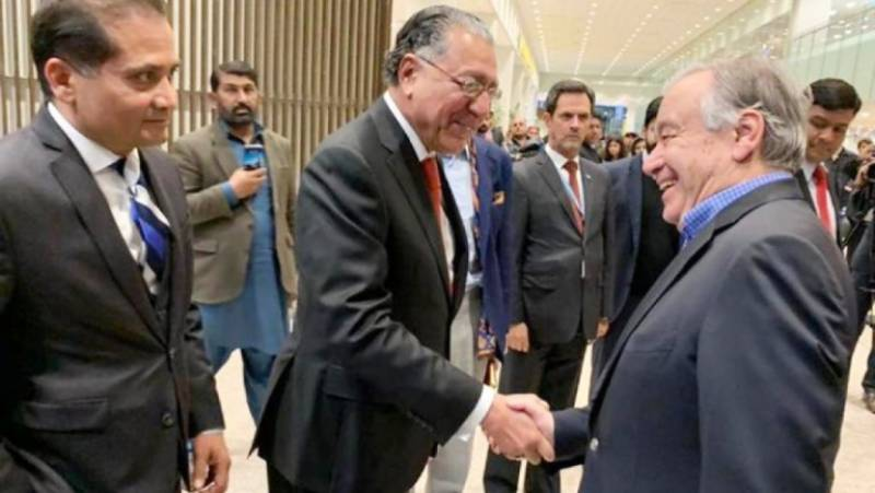 UN Secretary General Guterres reaches Pakistan on four-day visit