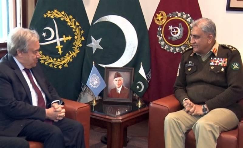 UN resolutions on Kashmir need implementation, UNSG Guterres tells COAS Bajwa