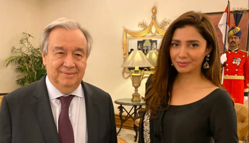 UN chief meets Mahira Khan, thanks her for 'extraordinary support'