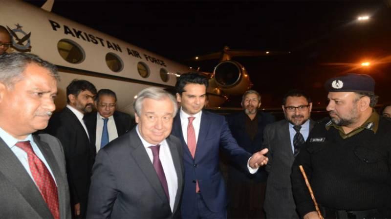 UN Secretary General reaches Lahore