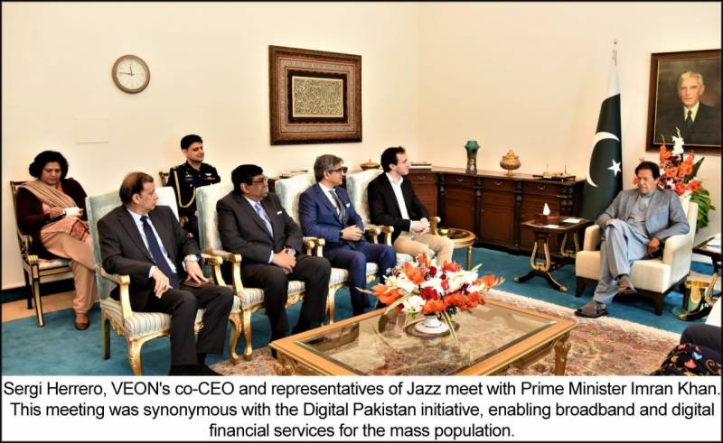 VEON's designate Co-CEO Sergi Herrero visits Pakistan, meets with PM Imran Khan