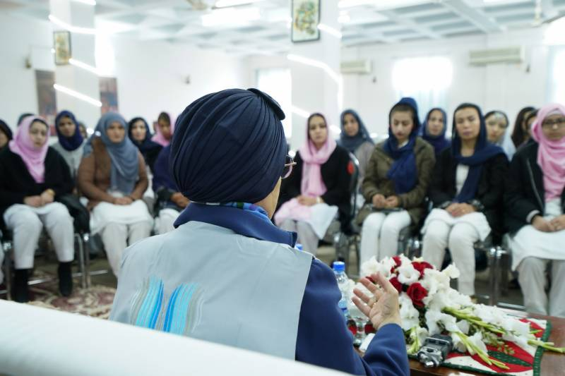 'In Pakistan, you are in safe hands,''Jawaher Al Qasimi tells women refugees