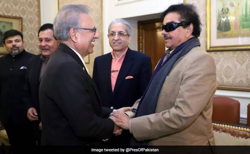 Indian politician and former actor Shatrughan Sinha meets President Arif Alvi, discusses Kashmir
