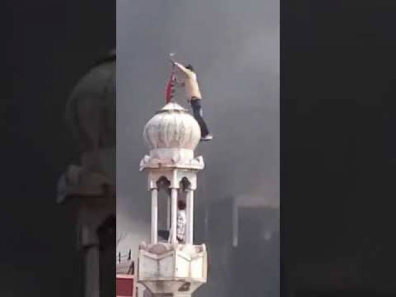 Hindu terrorists set Delhi mosque on fire amid anti-CAA riots