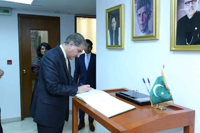 FM Qureshi inaugurates new Pakistan embassy building in Doha