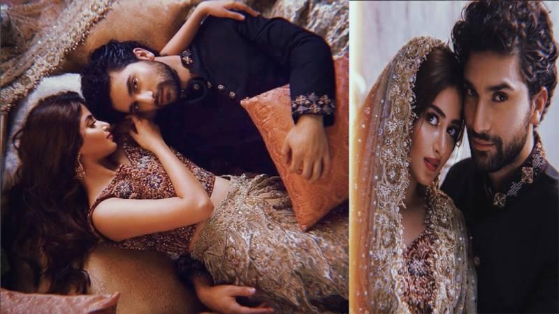 Sajal Ali, Ahad Raza Mir begin handing out wedding invites