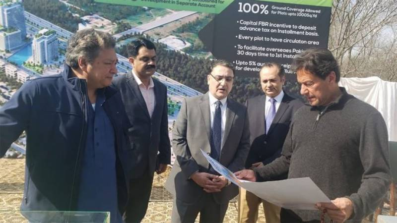 PM Imran launches multi-billion Blue Area commercial project