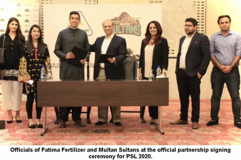 Fatima Fertilizer partners with Multan Sultans to support them during PSL 2020