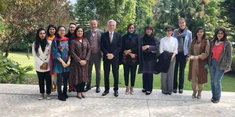 French, German, ambassadors mark Women's Day with Pakistani female journalists