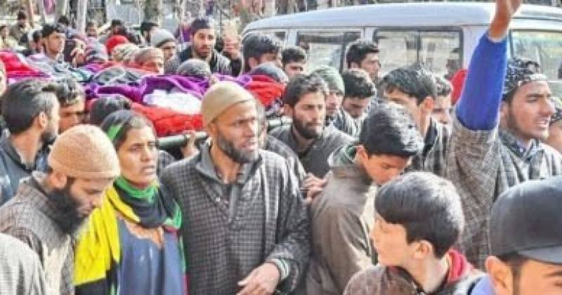 Thousands participate in funeral prayers of Kashmiris killed by Indian forces