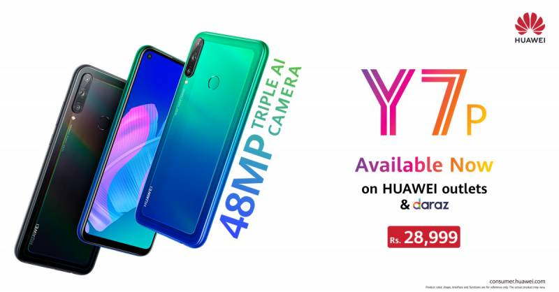 Huawei Y7p With 48MP Triple AI Camera, 4,000mAh Battery Launched in Pakistan: Price, Specifications