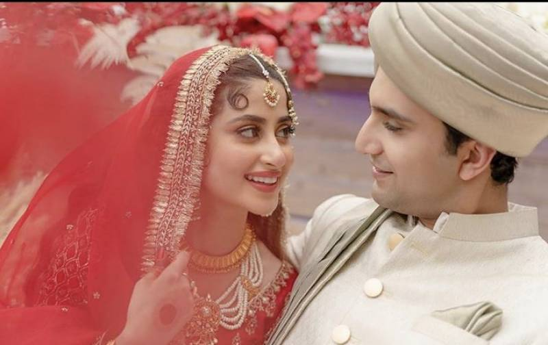Sajal Aly and Ahad Raza Mir tie the knot in Abu Dhabi
