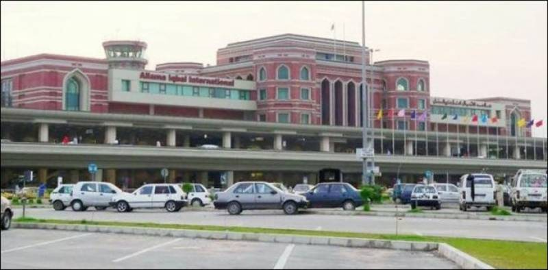 Lahore Airport sprayed disinfectant to curb COVID-19
