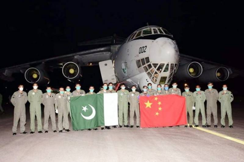 PAF aircraft carrying medical equipment from China arrives Pakistan